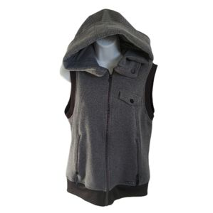 Burton Dryride Sleeveless Hooded Vest, Gray, L